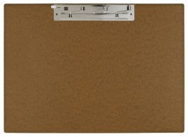 """17x11 Clipboard - Hardboard with 8"""" Lever Operated Hinge Clip"""