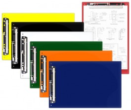 """13 x 19 Acrylic Clipboards With 11"""" Hinge Clip"""