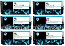 HP 745 Ink Cartridges & 744 printheads for HP Z5600, Z2600 Large Format Printers