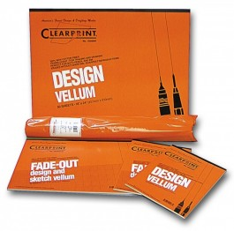 Clearprint 1000H 16 lb. 8x8 Fade-Out Grid Vellum