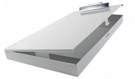 11 x 17 Aluminum Clipboard w/Storage Compartment