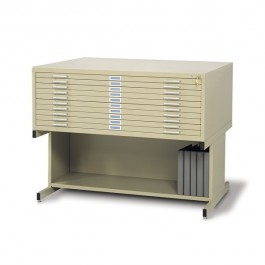Safco 10 Drawer 30 x 42 Steel Flat Files