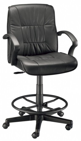 Alvin Executive Leather Drafting Chair