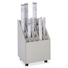 Safco Wood Core Mobile Roll File (20 opening)