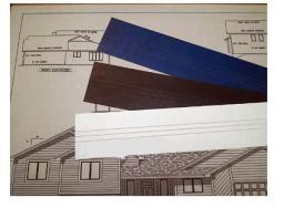 Blank Binding Strips  100/pk
