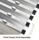 Clear Label Holders for Hanging Print Clamps
