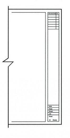 Clearprint Architectural Titleblock 18 x24 8 x 8 Grid