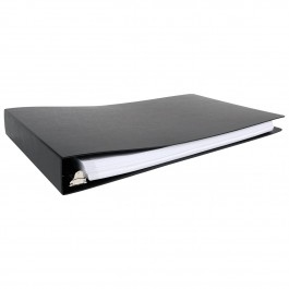 """11x17 Binder Poly Panel Featuring a 1.5"""" Angle-D Ring- Black"""