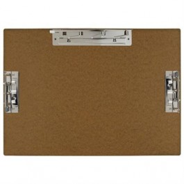 17x11 Hardboard Clipboard with 3 Clips