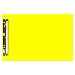 """13 x 19 Yellow  Acrylic Clip Board With 11"""" Hinge Clip"""