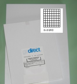 "24"" x 36"" 8x8 grid 3 mil Drafting Film/Mylar 25/pk"