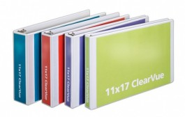 11 x 17 ClearVue Binders with Slant D-Rings