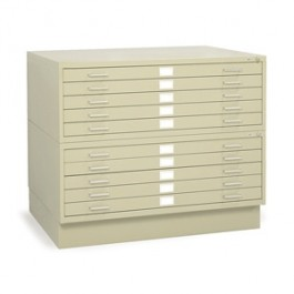 "Safco 5 Drawer 36 x 48"" Steel Flat Files"