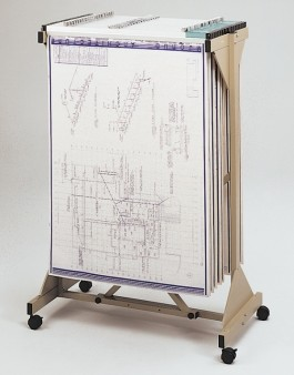 Safco Mobile Plan Rack