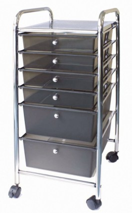 Alvin 6- Drawer Mobile Storage Cart