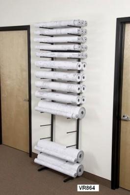 Vis-I-Rack Vertical Roll Storage Rack