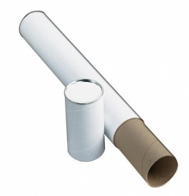 3 inch White Telescoping Mailing/Storage Tube