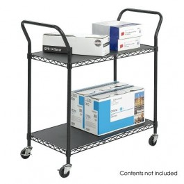 Black Wire 2 Shelf Utility Cart
