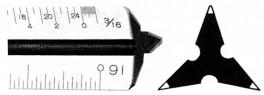 """12"""" Plastic Traingular Scales"""