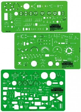 Electrical/Electronic Template Set (3)