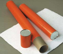 4 Inch Diameter Orange Telescoping Mailing Tubes