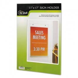 11 X 17 Clear Plastic Document Holder, Wall Mount