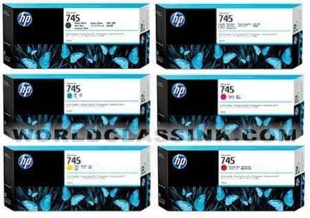 HP 745 Ink Cartridges & 744 printheads for HP Z5600, Z2600 Large