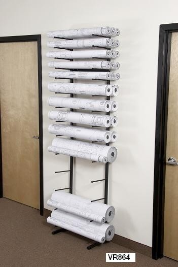 Vis-I-Rack Vertical Roll Storage Rack & Vis-I-Rack Vertical Roll Storage Rack - GS Direct Inc.